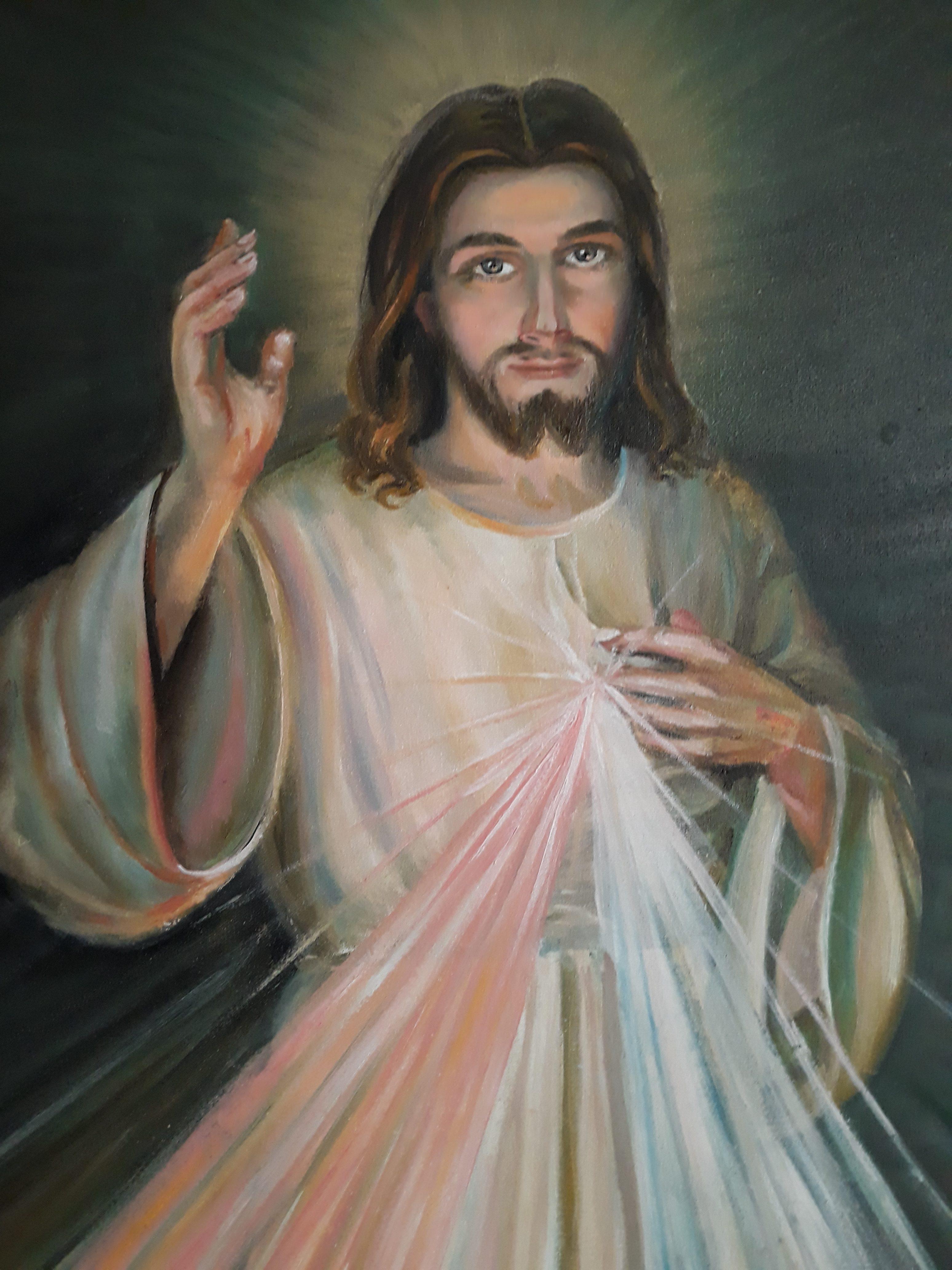 Obraz olejny ``Jezu Ufam Tobie``