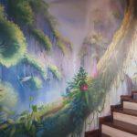Mural z dżunglą