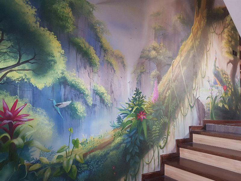 Mural dżungla