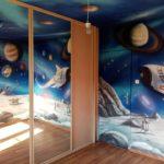 kosmos, galaktyka, droga mleczna, gwiazdy , mural kosmosu