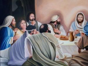 Obraz olejny - Wieczerza z Jezusem