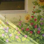 słoneczniki i malwy