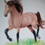 mural z koniem