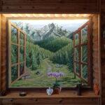 mural z górami